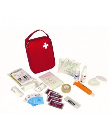 Trousse de premiers soins portative Tissu rouge 1 à 5 personnes