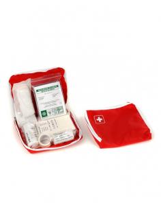 Trousse de secours Tissu rouge Moyen modèle 1 à 5 personnes
